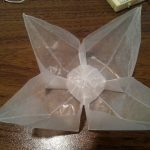 waxed paper origami flower